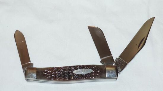Case XX 8 Dot Brown Bone HandleKnife