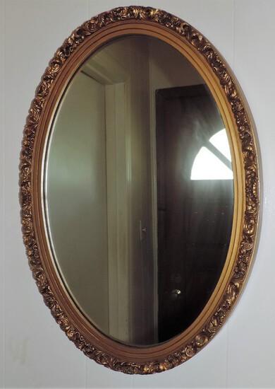 Gold Framed Oval Mirror
