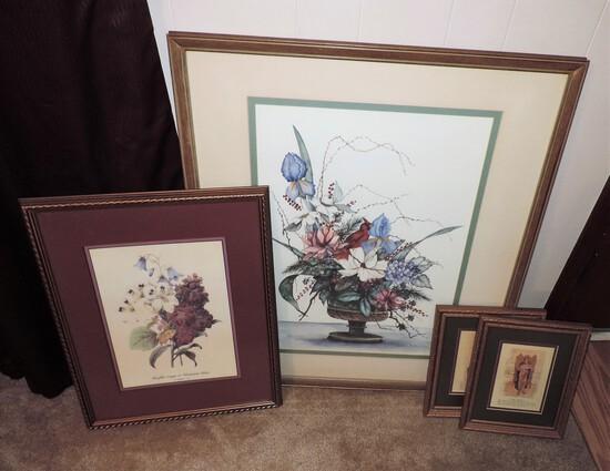 4 Pc Framed Wall Art Lot