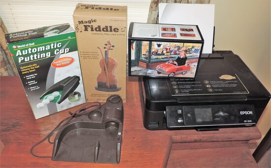 Epson Printer, Magic Fiddle, Automatic Putting Cup