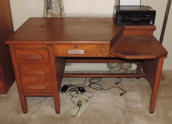 Antique Oak Knee Hole Desk
