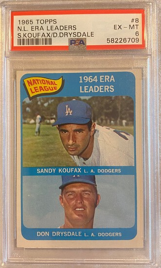 1965 Topps N.L. ERA Leaders