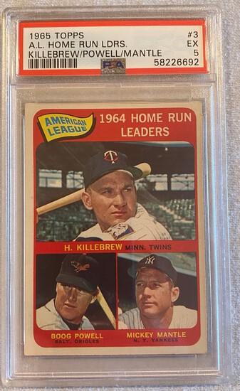 1965 Topps A.L. Home Run Leaders