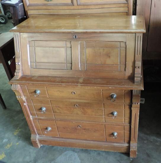 Victorian Eastlake Period Slant Lid Desk