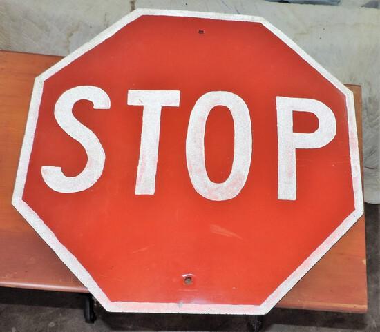 Vintage Metal Stop Sign