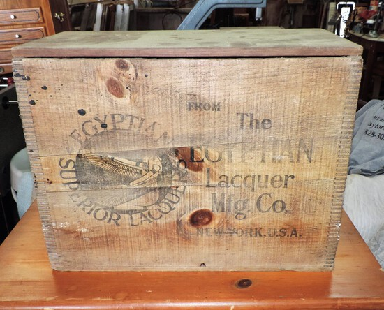 Antique Country Store Egyptian Lacquers Box