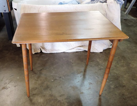Maple Victorian Folding Sewing Table