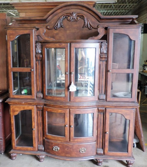 Two-Piece Glass Front Designer Display Cabinet