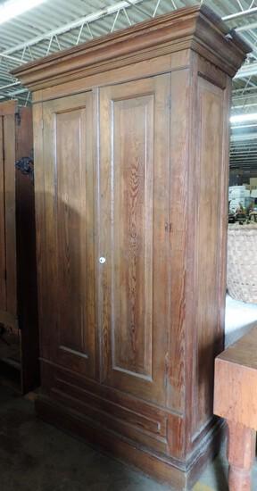 Antique Heart Pine 2 Door Wardrobe