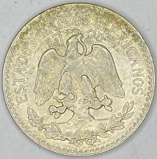 1944 Mexico Silver 50 Centavos