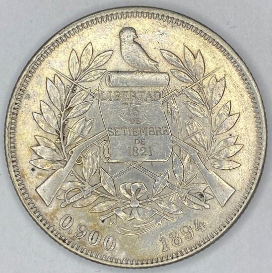1984 Guatemala Silver Peso