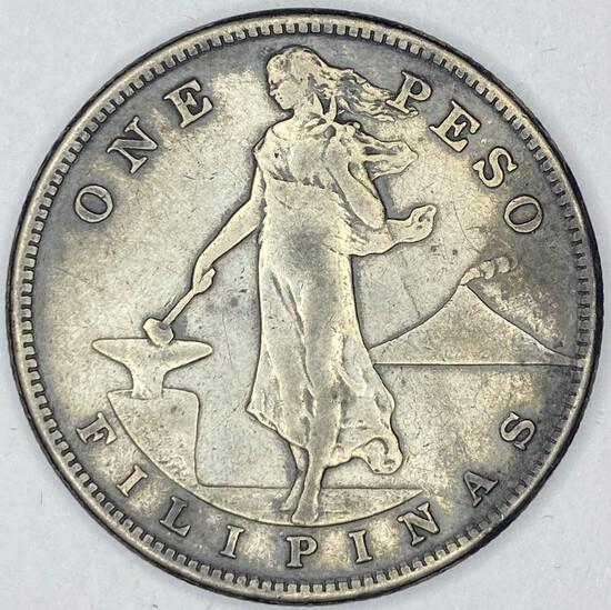 1907 Philippines Silver Peso