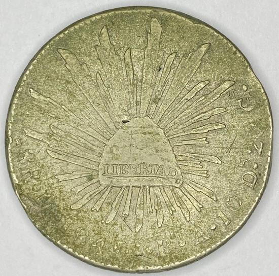1845 Mexico Silver 8 Reales