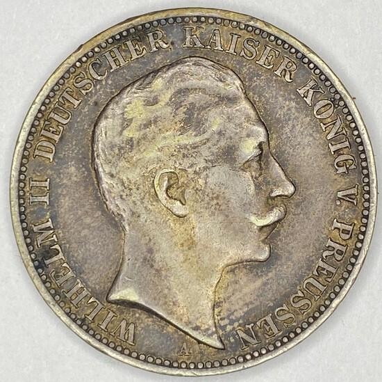 1910 Prussia Silver 3 Mark