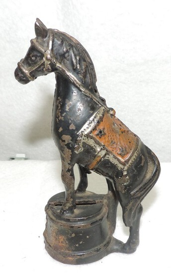 Antique Cast Iron Horse Bank