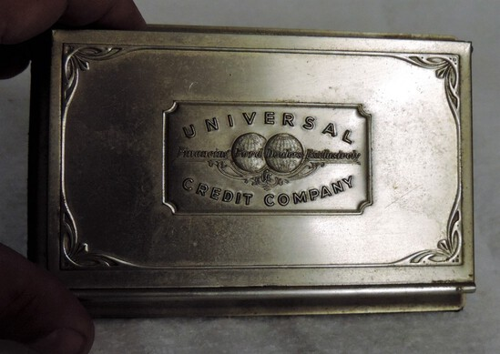 Metal Universal Credit Company Desk Calendar/Note Holder
