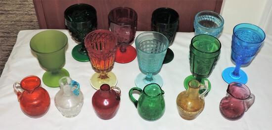 Colored Glassware Lot