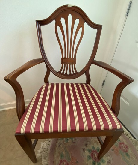 Shield  Back Chair with Arms