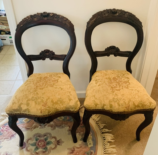 Pair of Victorian Ribbon-Back Chair