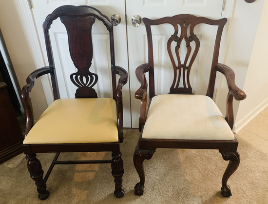Two Mahogany Arm Chairs