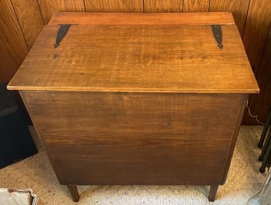 Vintage Hand Made Pine Lift Lid Storage Chest