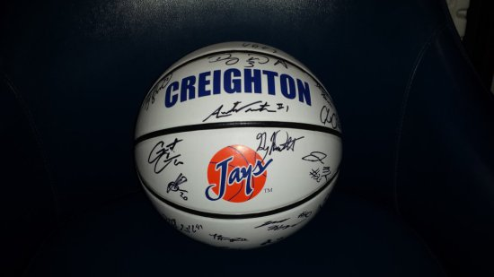 Autographed Basketball by the 2013-2014 Creighton Men's Basketball Team