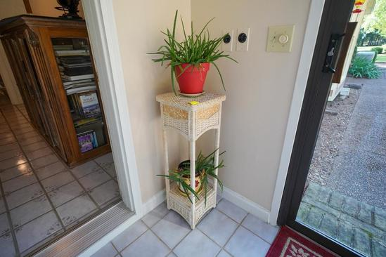 Wicker Plant Stand With 2 Plants