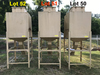 metal outdoor feed bin, bin measures 41.5''x41.5''x48.5'', approximately 1.8cu.yd.