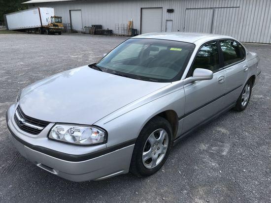 2003 Chevrolet Impala 4-door silver sedan, ONE OWNER, 136620mi, 3.4 liter V6 gas engine, automatic t