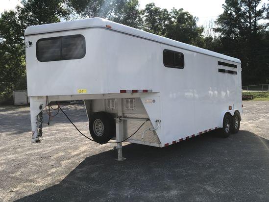 2011 CM Trailers 18' gooseneck cargo trailer, ONE OWNER, extra foam insulation on walls, air conditi