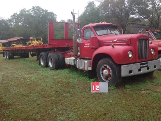 1954 MACK TRUCK, WITH 48 FT TRAILER