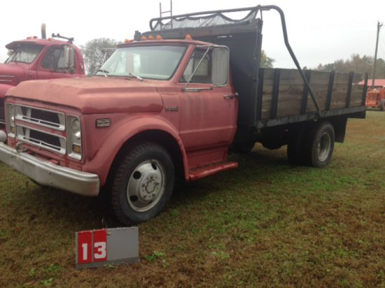 CHEVY C-50 TRUCK WITH DUMP BOX