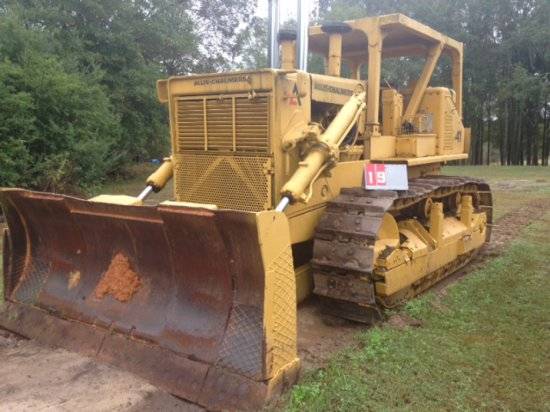 ALLIS CHALMERS HD-41, WITH BLADE, 10200109, RUNS, STEERING CLUTCHES STUCK OR MASTER CYLINDERS