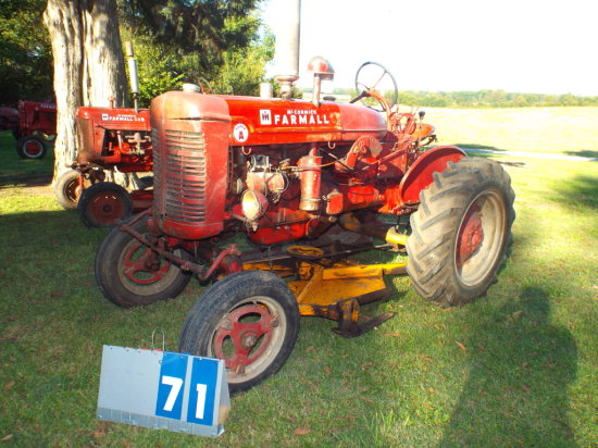 FARMALL SUPER A, 257235, 1948, WITH BELLY MOWER, RUNS