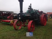 LARGE ANTIQUE STEAM ENGINE, TRACTOR, EQUIP VEH AUC
