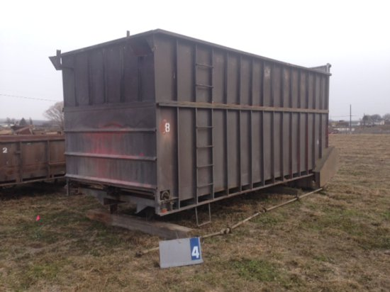 SHOP BUILT TRUCK BOX WITH LIVE BOTTOM
