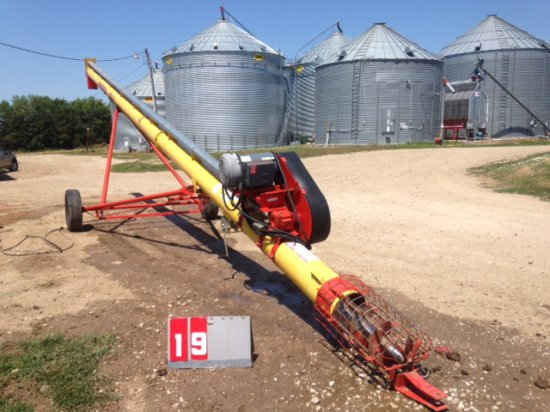 WESTFIELD 10 INCH X 41 FT AUGER WITH ELECTRIC MOTOR, 10 HP