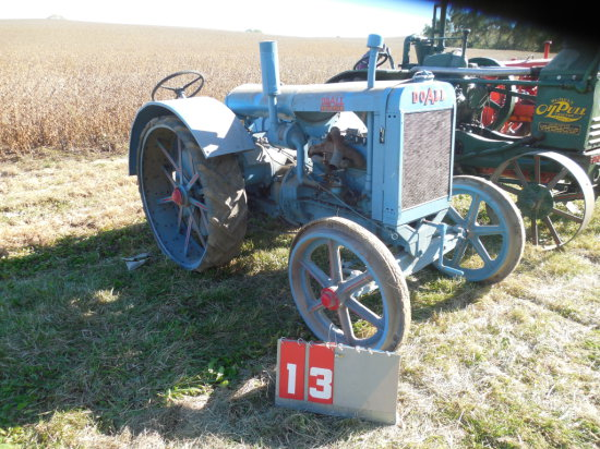RUMELY DO-ALL, STEEL FRONT, RUBBER REAR, OLDER RESTORATION