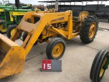 JOHN DEERE 440 INDUSTRIAL, WITH #71 LOADER AND BUCKET, ORIGINAL