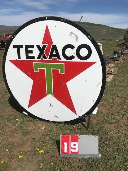 TEXACO PORCELAIN SIGN, 2 SIDED, NICE