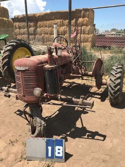 FARMALL B, 218449, SINGLE FRONT, 1947, HASN'T RUN SINCE 2012