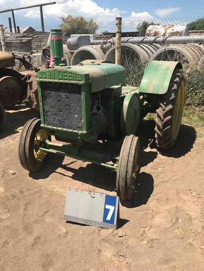 JOHN DEERE D, 37565, NICKELHOLE FLYWHEEL, 1926, HASN'T RUN SINCE 2012