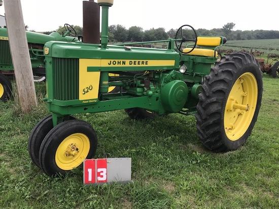 JOHN DEERE 520, 5211382, 1958, LAST YEAR OF PRODUCTION, 38 HP GAS, 6 SPD TRANS,