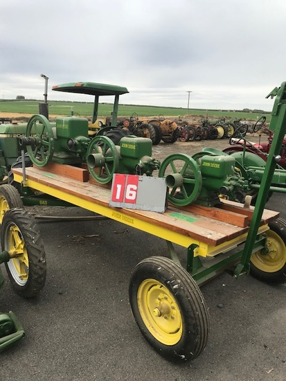 JOHN DEERE 1.5 HP, 3 HP & 6 HP ENGINES ON TRAILER