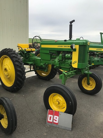 JOHN DEERE 420 HC, 112091, RESTORED, RUNS