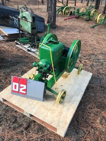 JOHN DEERE 3 HP ENGINE, 293641, ON TRUCKS, RUNS
