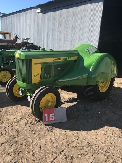 JOHN DEERE 620 ORCHARD, GAS, 6212534, FULL ORCHARD TIN, POWER STEERING, RESTORED, RARE, RUNS