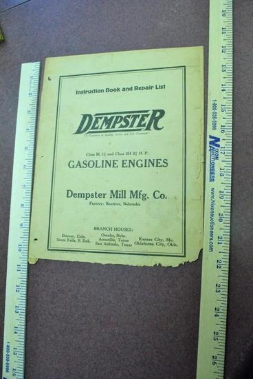 1933 Dempster Instruction Book