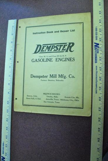 1930 Dempster Instruction Book
