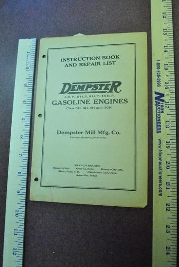 1926 Dempster Instruction Book